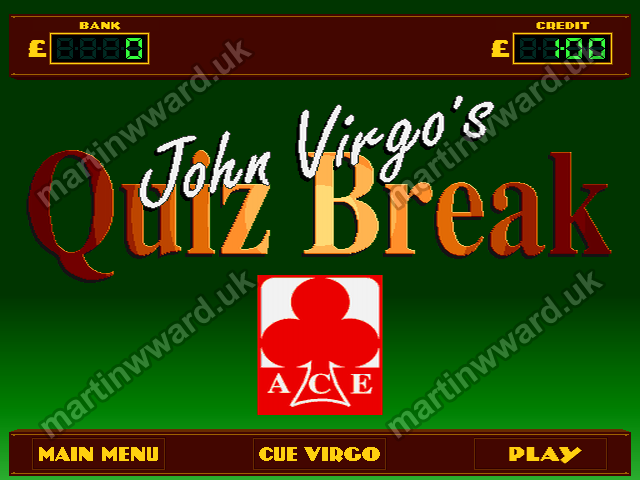 John Virgo's Quiz Break - Martin Ward - Games Developer